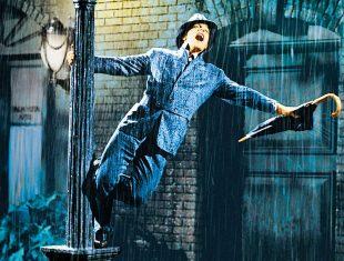 Singing in the rain iconic image