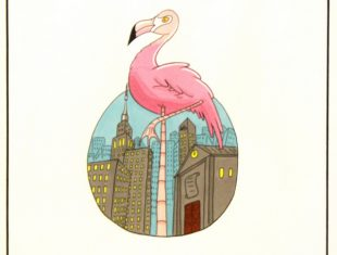 Illustration of a flamingo