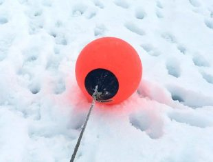 Buoy in the snow