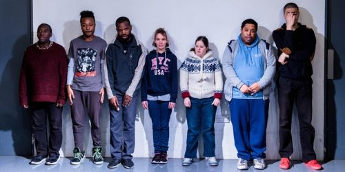 A group of young learning disabled people