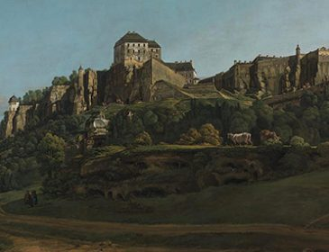 Bernardo Bellotto, The Fortress of Königstein from the North