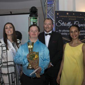 Photo of Jonathan receiving his award