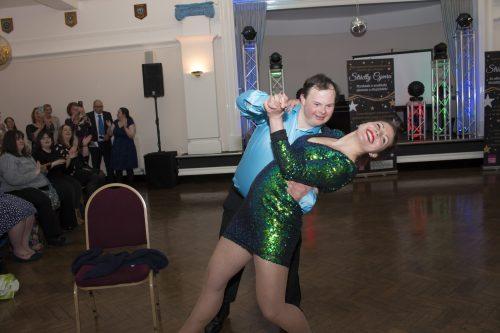 Man and woman dance ballroom style