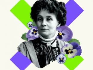 Headshot of a woman suffragette