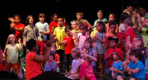 Group of children on stage