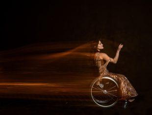 Wheelchair ballroom dancer