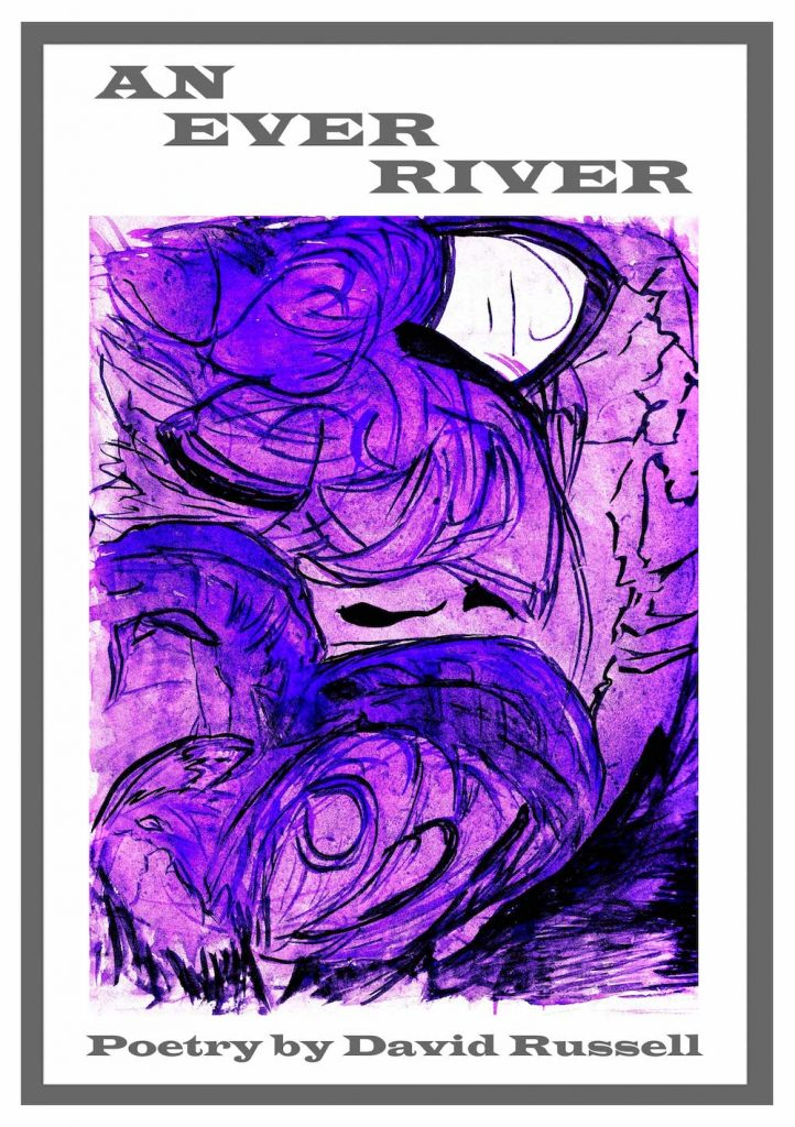 The cover of this book consists of a stormy swirl of purple and black within a white frame and black border