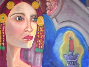 Zara Bradley's painting 'By Candlelight'