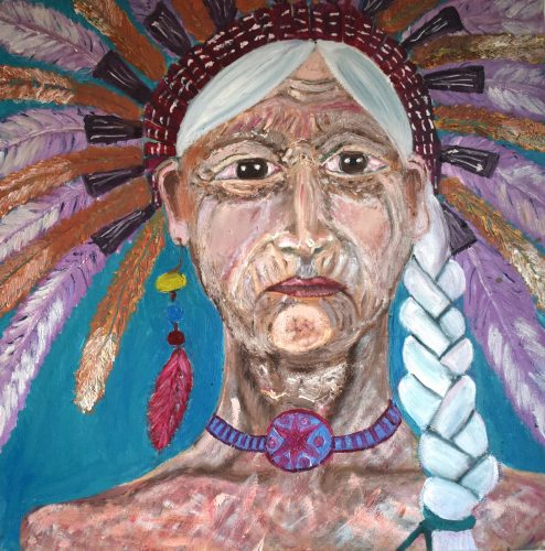 Zara Bradley's painting 'Chief'