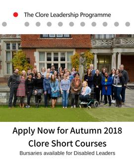 Clore short course advert