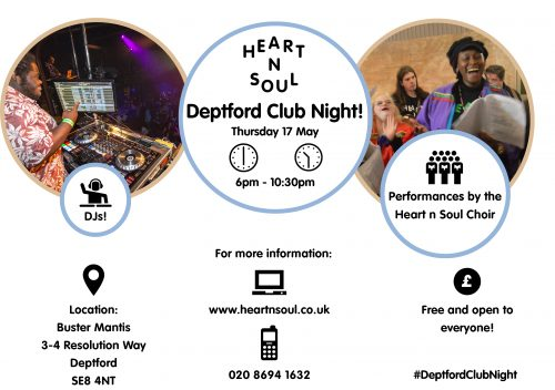 heart n soul deptford club night logo