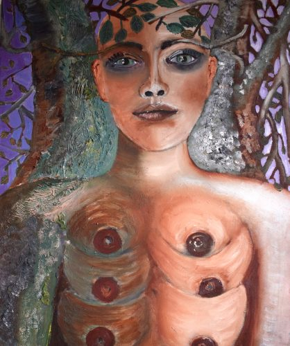 Zara Bradley's painting: Multi-Breasted Tree