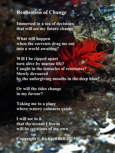 Poem set against an underwater scene