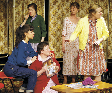 Production shot of the Knitting Circle
