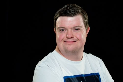 Portrait shot of smiling Coronation Street actor Liam Bairstow