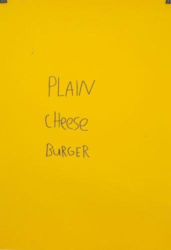 Plain Cheese Burger