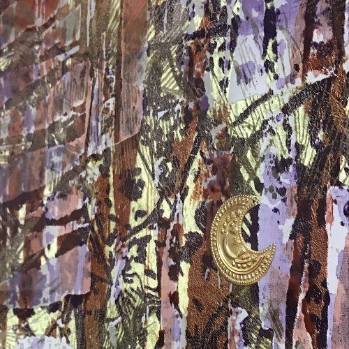 Close up of glass artwork