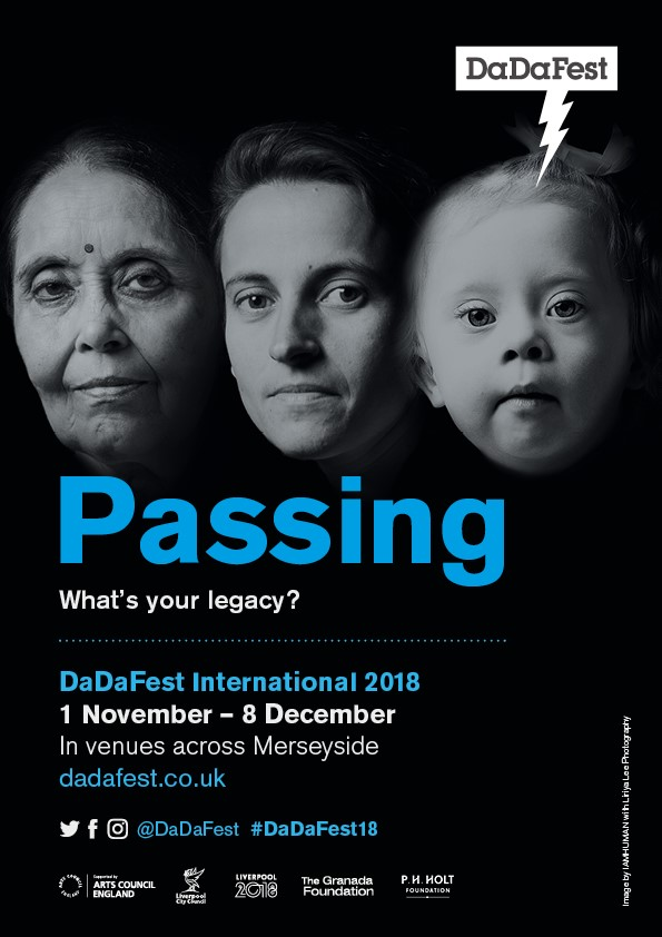 Festival brochure with image of three faces