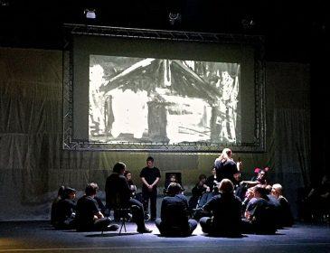 Amandla - projection of a tribal hut