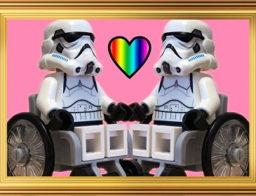 Wheelchair using lego stormtroopers