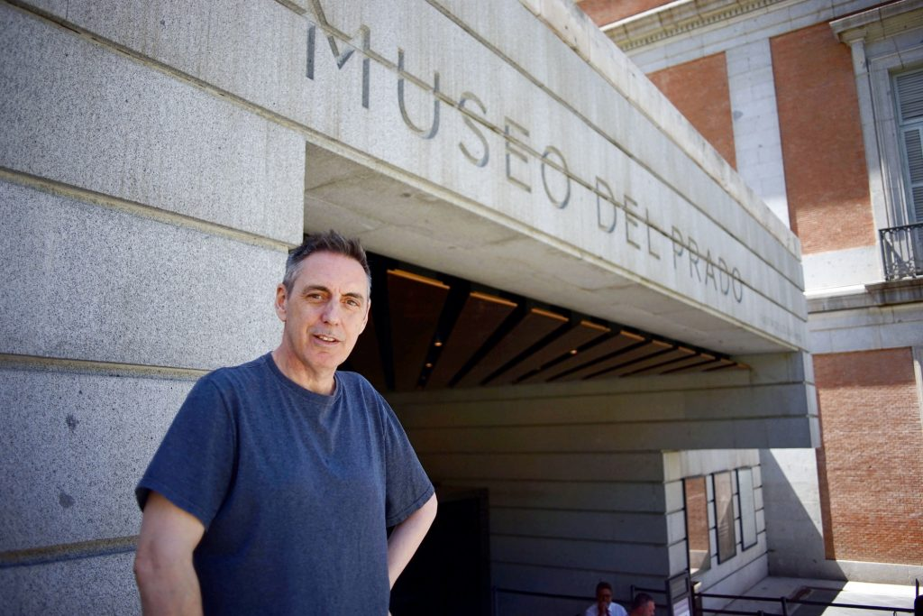 Richard Butchins standing outside a museum