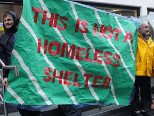 This is not a homeless shelter abnner