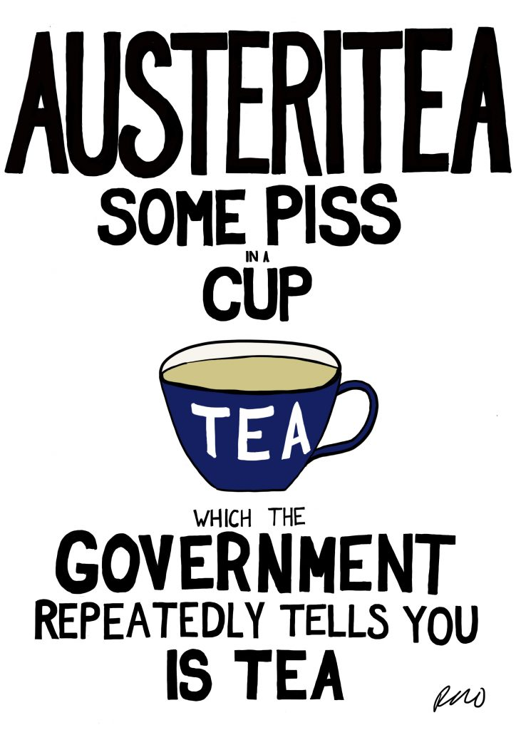 Austeritea illustration by Rachel Rowan Olive