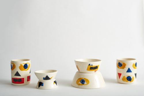 Colourful ceramic bowls