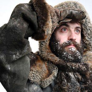 Douglas Walker in snowy expedition gear