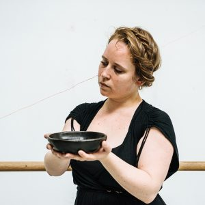 Amy Rosa holding a bowl