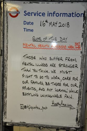 London underground 'quote of the day' poster