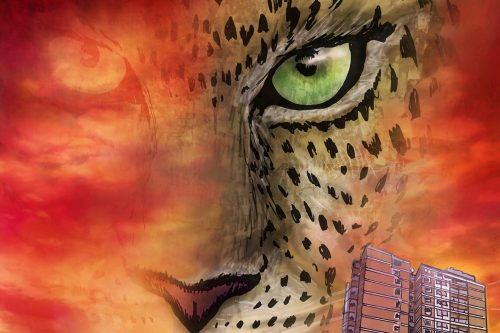 Illustration of a cheetah's face