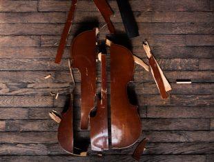 Smashed violin