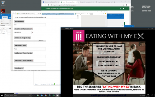BBC3 eating with my ex promo