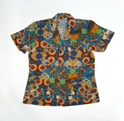 a brightly coloured shirt