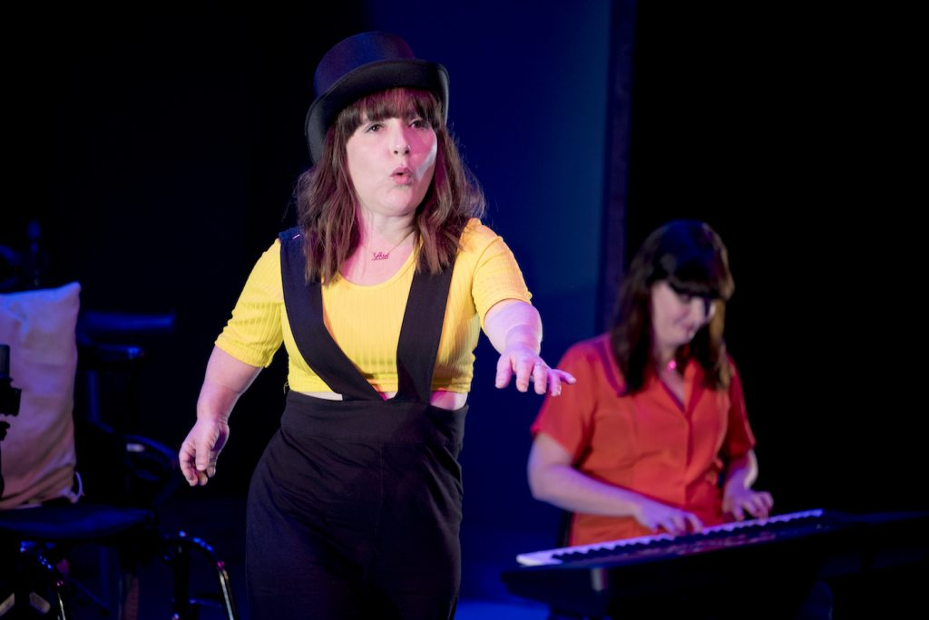 Lisa Hammond and Rachael Spence pictured on stage