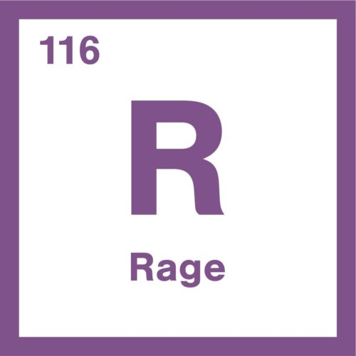 'Rage' in the form of the periodic table taken from periodic table of emotions
