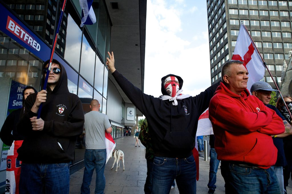 EDL supporters