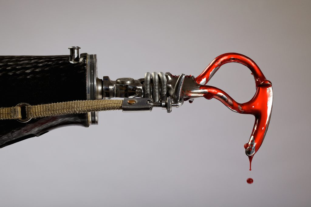 prosthetic arm with hook