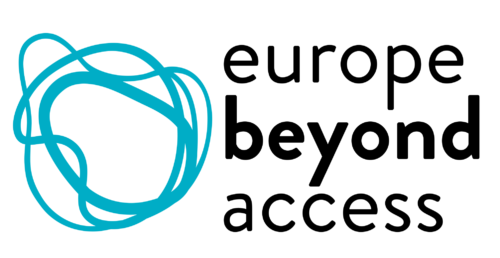 Europe Beyond Access logo with blue swirl