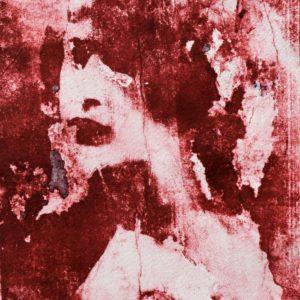 Red mono print