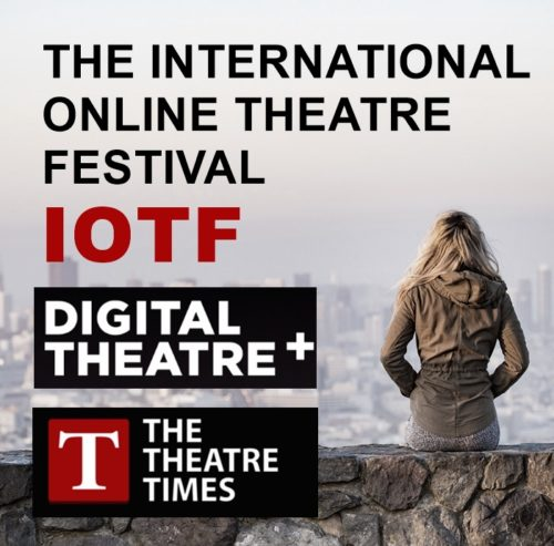 flyer announcing the the international online theater festival