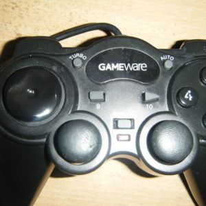 picture of a black gaming controller