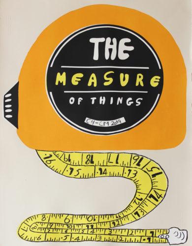 Screenprint of a tape measure