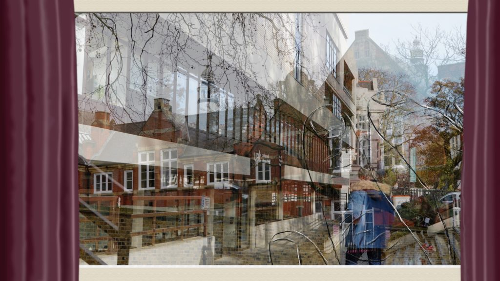 superimposed images of a series of flats