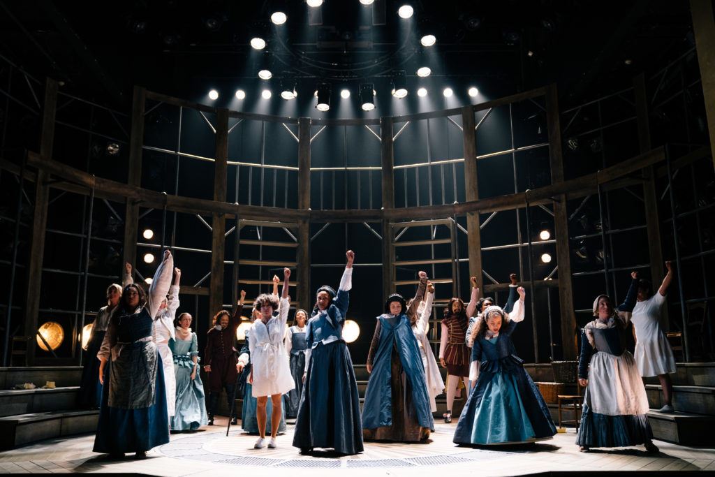 Cast of women raise fists