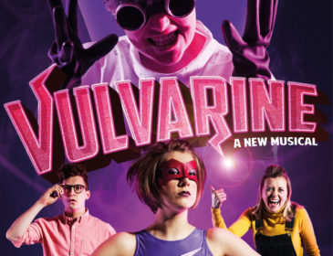 Vulvarine poster image with female superhero