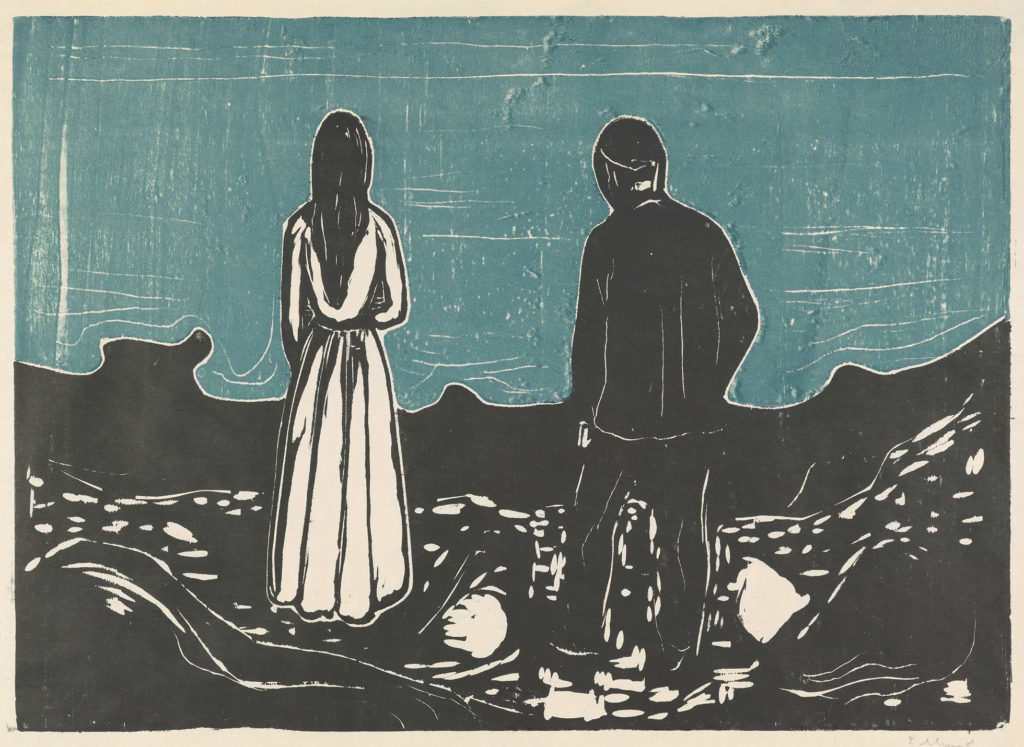print of a man and a woman