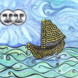 Illustration of yellow boat