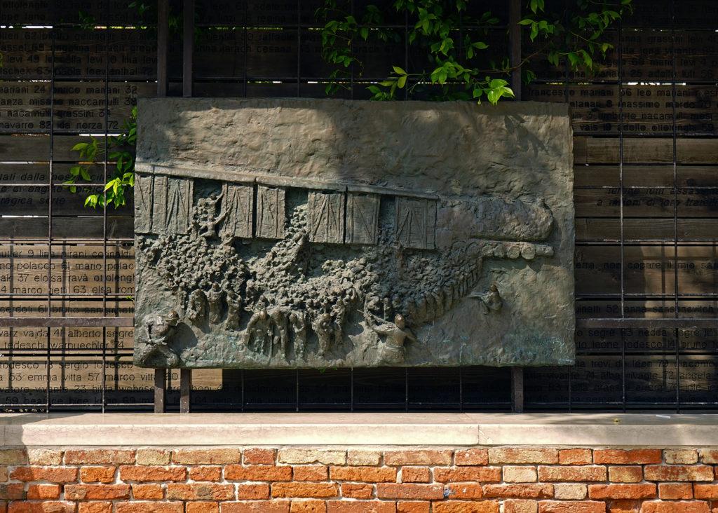 Large stone Holocaust memorial